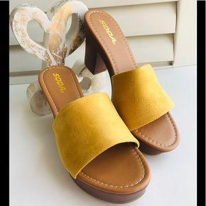 NWT NIB Slip On Shoes Fall Mustard color